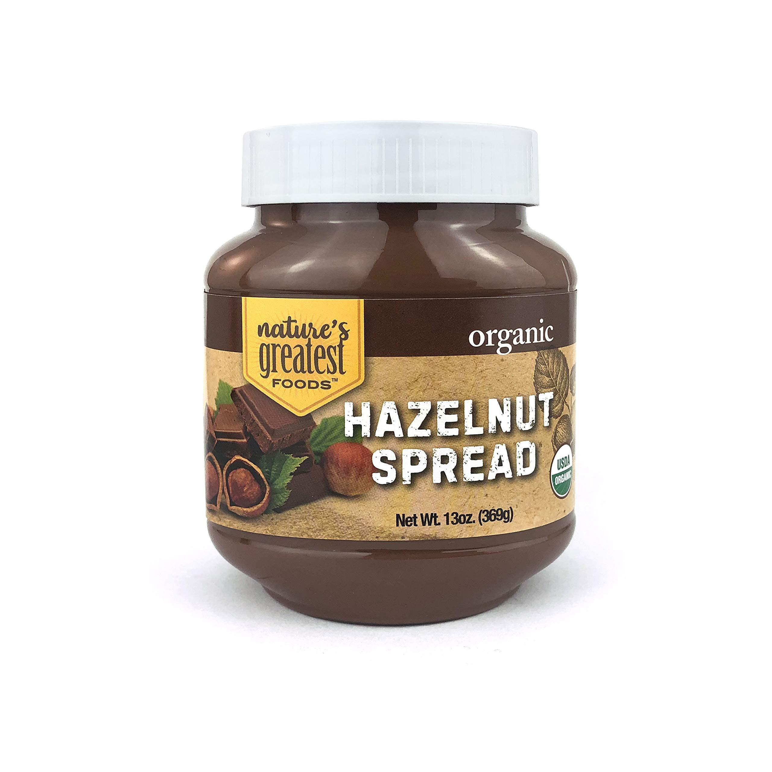 Nature's Greatest Foods, Organic Hazelnut Spread, 13-Ounce