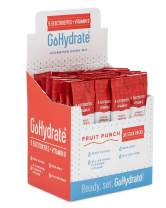 GoHydrate Electrolyte Hydration Drink Mix - A Naturally Flavored, Sugar Free, Maximum & Instant Hydration Powder (Fruit Punch, 30 Stick Packs)
