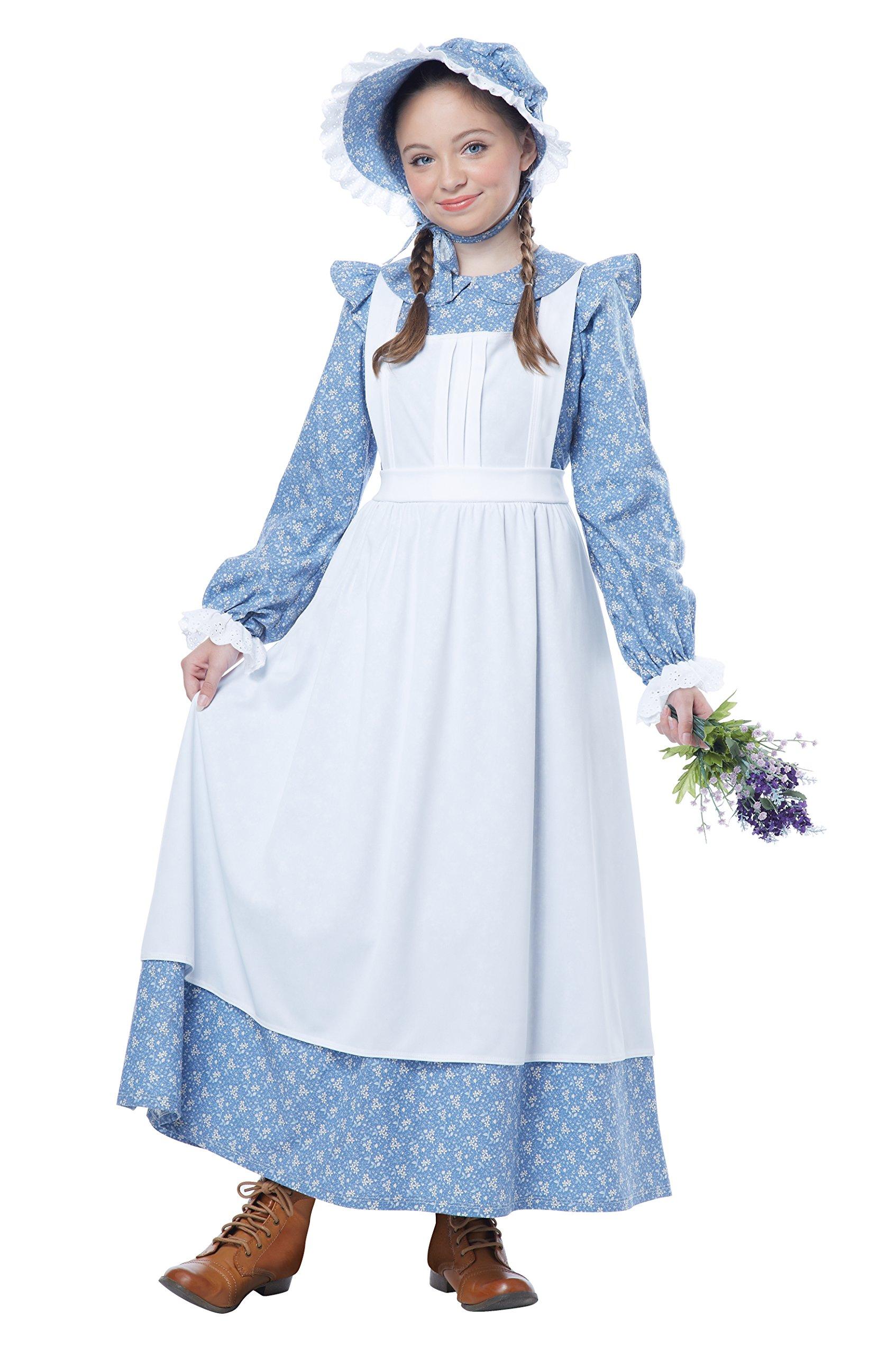 California Costumes Pioneer Girl Child Costume, Blue, Large
