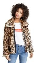 [BLANKNYC] Blank Denim Women's Leopard Print Jacket