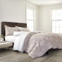 EcoPure 100% Organic Cotton Comfort Wash Sienna Duvet Cover Set, King, Linen