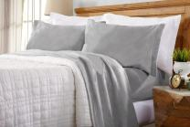 Home Fashion Designs Maya Collection Super Soft Extra Plush Fleece Sheet Set. Cozy, Warm, Durable, Smooth, Breathable Winter Sheets in Solid Colors (Twin, Paloma Grey)