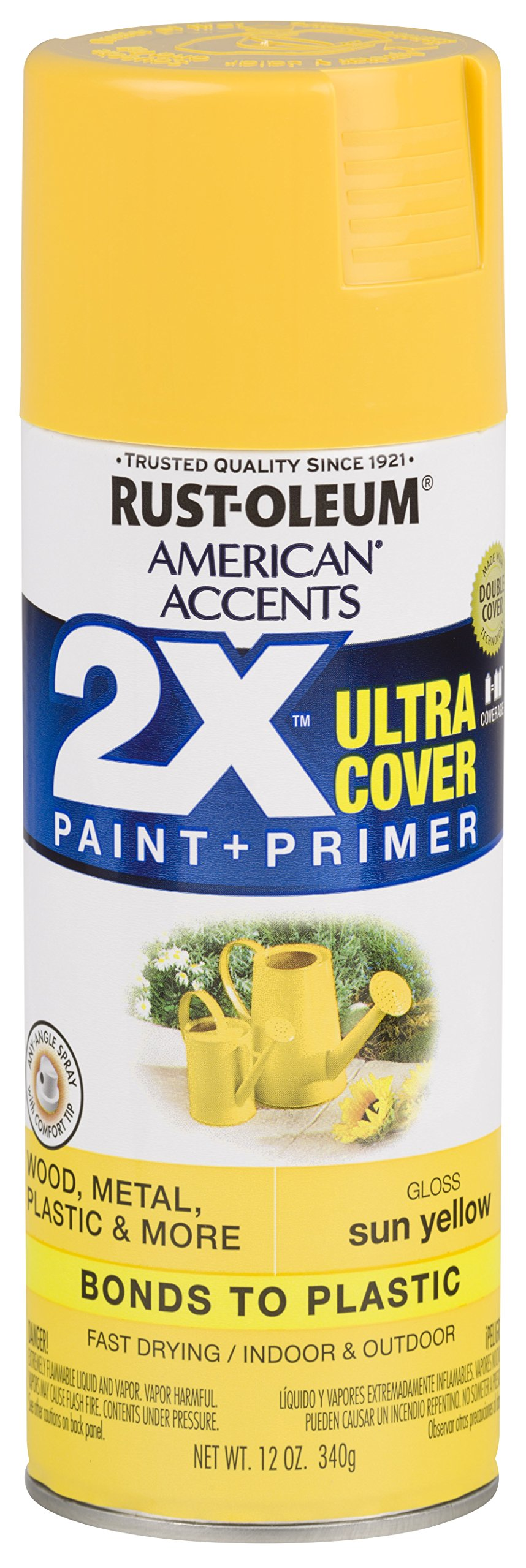 Rust-Oleum 327880 American Accents Spray Paint, Gloss Sun Yellow