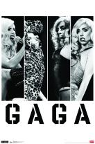 "Trends International Lady Gaga - Photo Bars, 22.375"" x 34"", Premium Unframed"