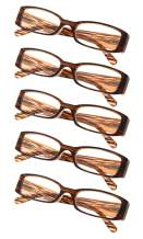 5-Pack Ladies Reading Glasses Includes Sunshine Readers for Women