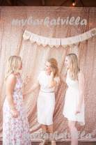 """TRLYC 48"""" by 108"""" Champagne Sequin Party Photo Booth Backdrop,Sparkly Photography Curtain For Wedding"""