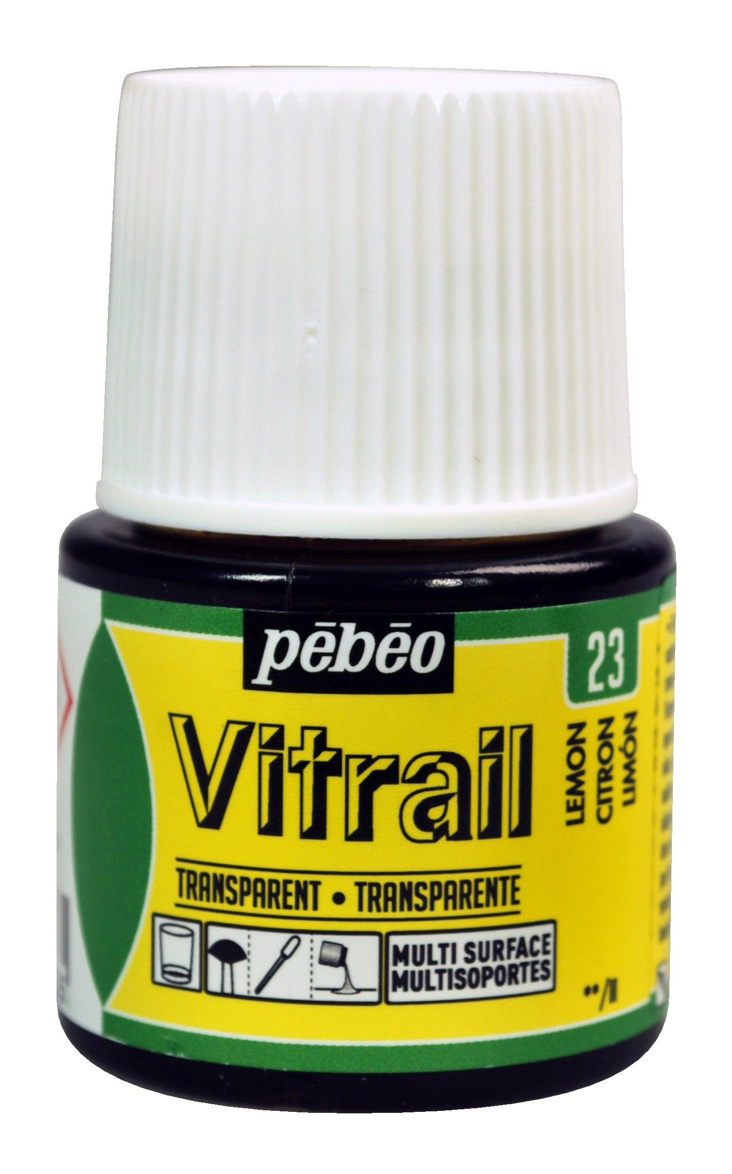 Pebeo Vitrail, Stained Glass Effect Paint, 45 ml Bottle - Lemon