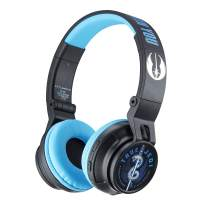 eKids Star Wars Ep 9 Wireless Bluetooth Portable Kids Headphones with Microphone, Volume Reduced to Protect Hearing Rechargeable Battery, Adjustable Kids Headband for School Home or Travel, B50