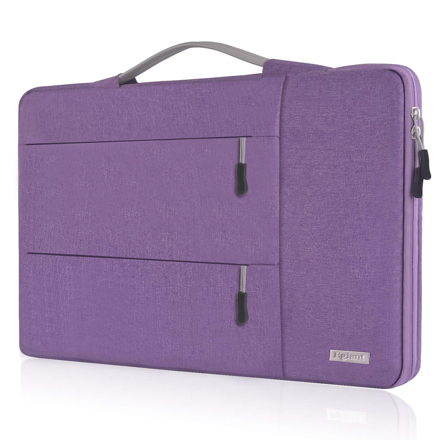 egiant 13.3 Inch Laptop Sleeve,Shock-Proof 360 Protective Handbag for MacBook Air 13,Mac Pro 13 Retina 2012-2015,Surface Book Laptop 3,Water Repellent Notebook Case Bag with 3 Accessory Pocket,Purple