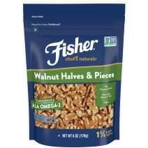 FISHER Chef's Naturals Walnut Halves & Pieces, 6 oz, Naturally Gluten Free, No Preservatives, Non-GMO