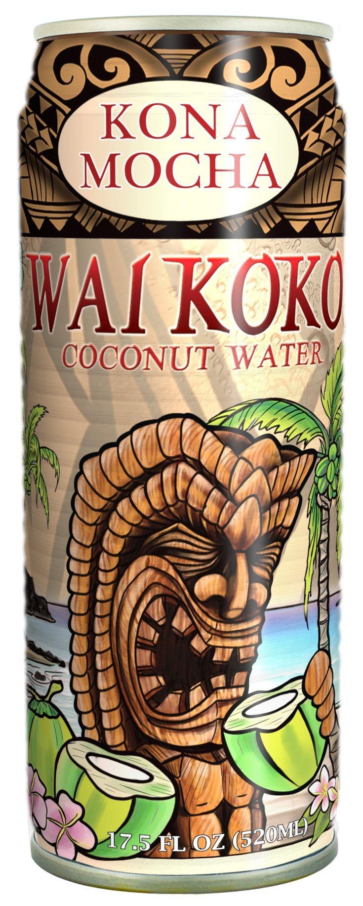 Wai Koko Coconut Water, Kona Mocha, 17.5-ounce (Pack of 12)