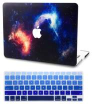 """KECC Laptop Case for MacBook Air 13"""" w/Keyboard Cover Plastic Hard Shell Case A1466/A1369 2 in 1 Bundle (Nebula)"""