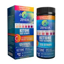 Ketone Strips to Measure Ketones in Urine & Monitor Ketosis on Keto Diet, 125 Urinalysis Test Strips