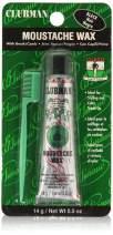 Clubman Moustache Wax Hang Pack - Black, 0.5 oz