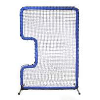 """JUGS Protector Blue Series C-Shaped Softball Screen —Softball Pitcher & Pitching Machine Protection, 7'H x 5'Wwith a 33"""" x 18"""" cutout, 60 Ply Poly-E Netting and 1.5"""" Diameter Frame,1-Year Guarantee"""