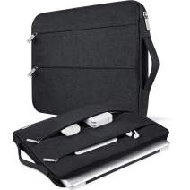 """V Voova 14 15 15.6 Inch Laptop Sleeve Bag Slim Chromebook Case Cover with Carrying Handle Compatible for MacBook Pro Retina 15.4""""/Surface Book 2 15""""/HP/Asus Notebook Ultrabook Computer Skin,Black"""