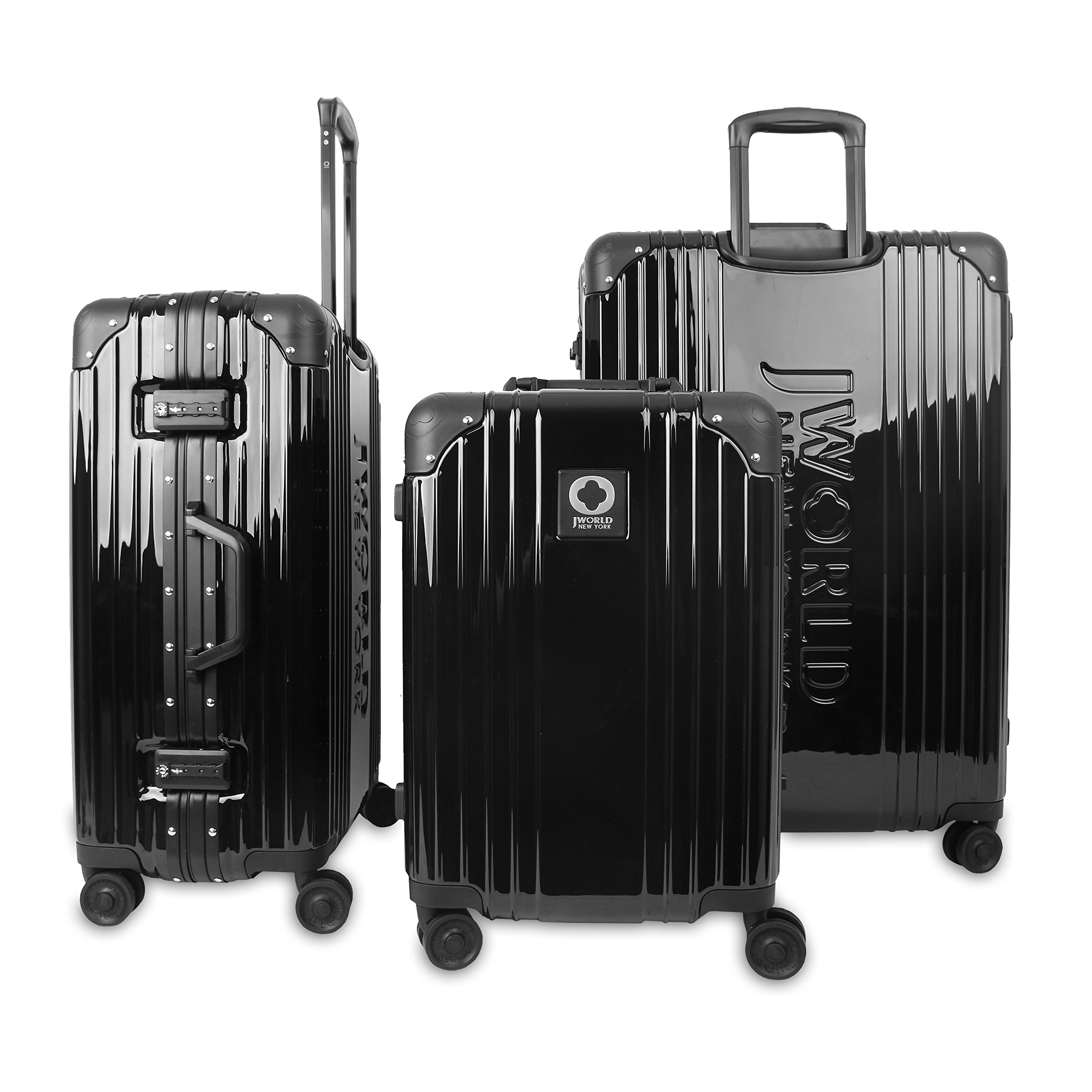 J World New York Nova Hard-side 3 Piece Spinner Luggage Set