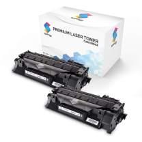 Spektrum Toner Compatible Cartridge Replacement (2-Pack) for HP 05A (Black) CE505A / 05X / CE505X / CE505D for HP Laserjet P2035 P2035n P2050 P2055 P2055d P2055dn P2055x