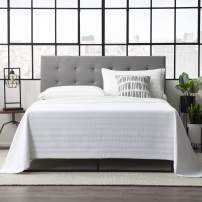 Everlane Home Hawthorne Faux Leather Headboard Platform, King/Cal King, Grey