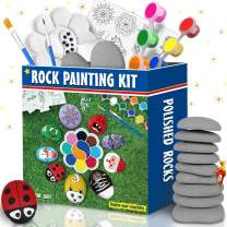Bingo Castle Rocks for Painting, Art Supplies Rock Painting Kit for Kids and Adults, Rock Arts Crafts for Girls Smooth Polished Flat Kindness River Rocks 2~3 Inches