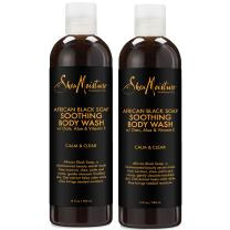 SheaMoisture African Black Soap Body Wash | 13 oz | Pack of 2