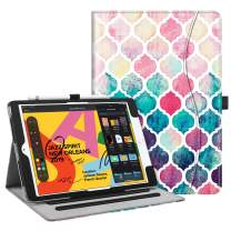 """Fintie Case for New iPad 7th Generation 10.2 Inch 2019 - [Corner Protection] Multi-Angle Viewing Folio Smart Stand Back Cover with Pocket, Pencil Holder, Auto Wake/Sleep for iPad 10.2"""", Moroccan Love"""