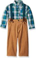 Little Me Baby Boy's Pant Set Pants, Evergreen/Camel