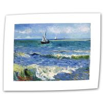 ArtWall Seascape at Saintes Maries by Vincent Van Gogh Rolled Canvas Art, 18 by 24-Inch