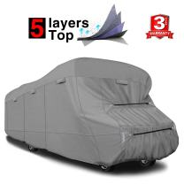 """RVMasking Extra-Thick 5-ply Top Class C RV Cover, Fits 29'-32' RVs - Breathable Waterproof Ripstop Anti-UV Class C Cover with 10 PCS Windproof Buckles & Adhesive Repair Patch(25.4""""&59"""")"""