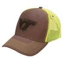 Ouray Sportswear NCAA Virginia Tech Hokies Sideline Cap, Dark Grey/Neon Yellow