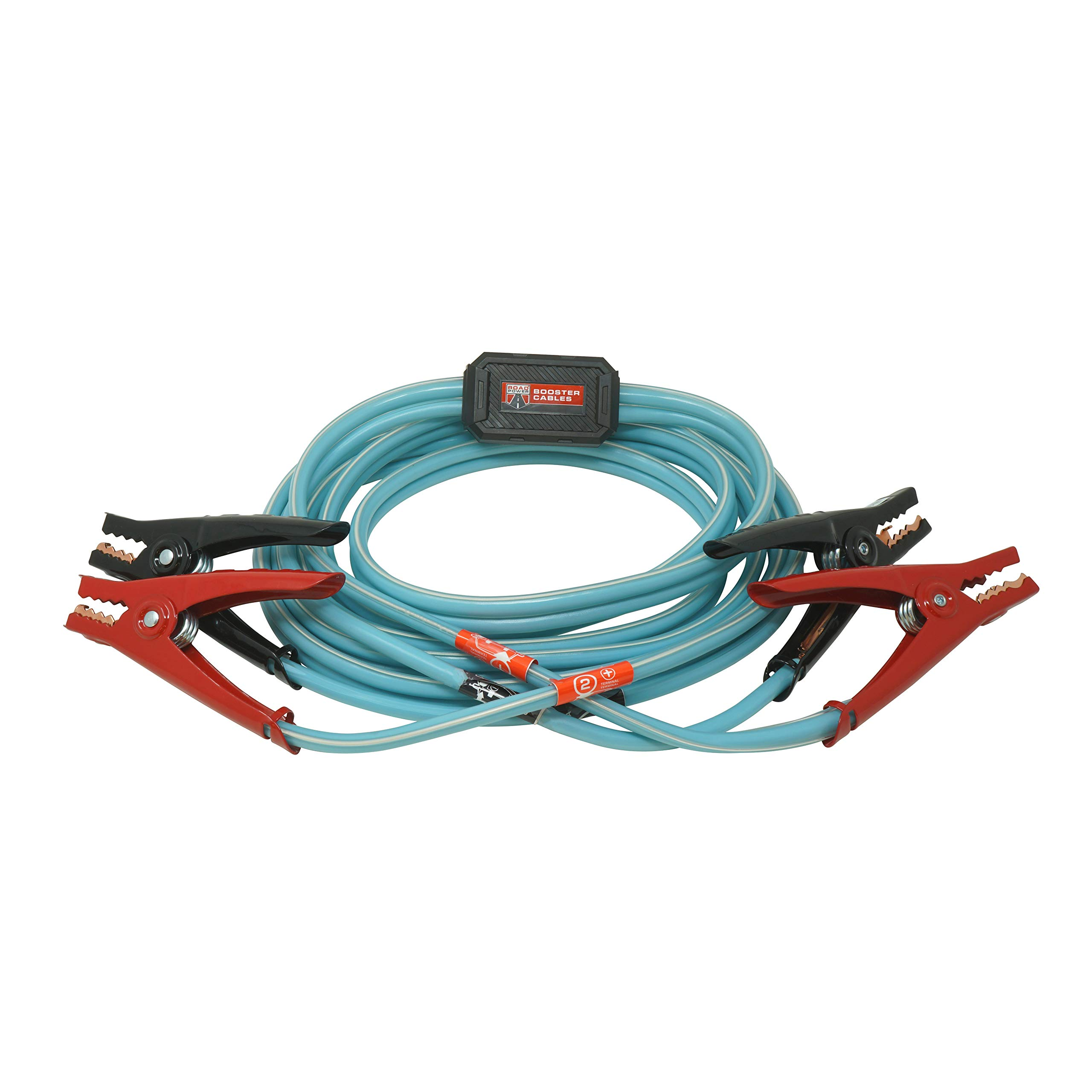 Road Power 84696616 6 Gauge, 16' Blue Booster Cables with Exclusive Road Glow Technology