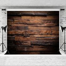 Kate 10x10ft Brown Wood Backdrop for Photography Customized Vintage Background for Photo Studio Props