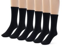 Silky Toes 3 or 6 Pairs Womens Bamboo Ribbed Dress Socks, Casual Basic Socks