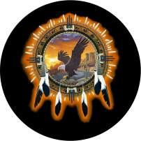 TIRE COVER CENTRAL Dream Catcher Eagle Spare Tire Cover (Select tire Size/Back up Camera Option in MENU) Custom Sized to Any Make/Model for 245/75r17