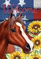 "Toland Home Garden 1012217 Sunflower Horse 28 x 40 Inch Decorative, House Flag (28"" x 40"")"
