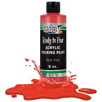 Pouring Masters Red Hot Acrylic Ready to Pour Pouring Paint – Premium 8-Ounce Pre-Mixed Water-Based - for Canvas, Wood, Paper, Crafts, Tile, Rocks and More