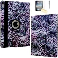 JYtrend Case for iPad Pro 11 Inch 2018, [Support Pencil Charging] Rotating Stand Smart Case Magnetic Auto Wake Up/Sleep Cover for iPad Pro 11 Model A2013 A1980 A1979 A1934 (Tiger)