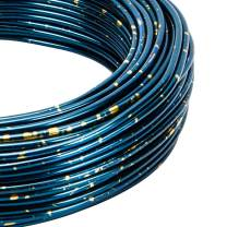 BENECREAT Multicolor Jewelry Craft Aluminum Wire (12 Gauge, 75 Feet) Blue Bendable Metal Wire with Storage Box for Jewelry Beading Craft Project, Blue and Gold