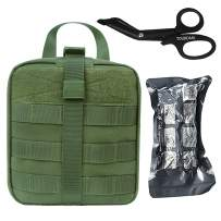 TOUROAM Tactical MOLLE Admin Pouch First Aid Kit-Emergency Survival Medical Trauma Kit-Compact Utility Bag IFAK-EMT EMS Vehicle Travel Camping Medic Kit …
