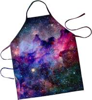 KYKU 3D Printed Galaxy Apron Purple Nebula Dark Luminous Stars Image Unisex Kitchen Bib for Cooking Gardening Funny Chef Grilling Aprons,Adult Size (Galaxy Apron)
