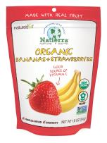 NATIERRA Nature's All Foods Organic Freeze-Dried Bananas and Strawberries | Non-GMO & Vegan | 1.8 Ounce