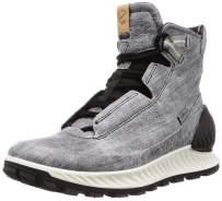 Ecco Outdoor Men's Exostrike Mid DYNEEMA Hiking Shoe, Black/Concrete, 45 M EU (11-11.5 US)