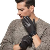 GSG Motorcycle Gloves for Men Warm Driving Leather Gloves Colorblock Italian Nappa Gloves