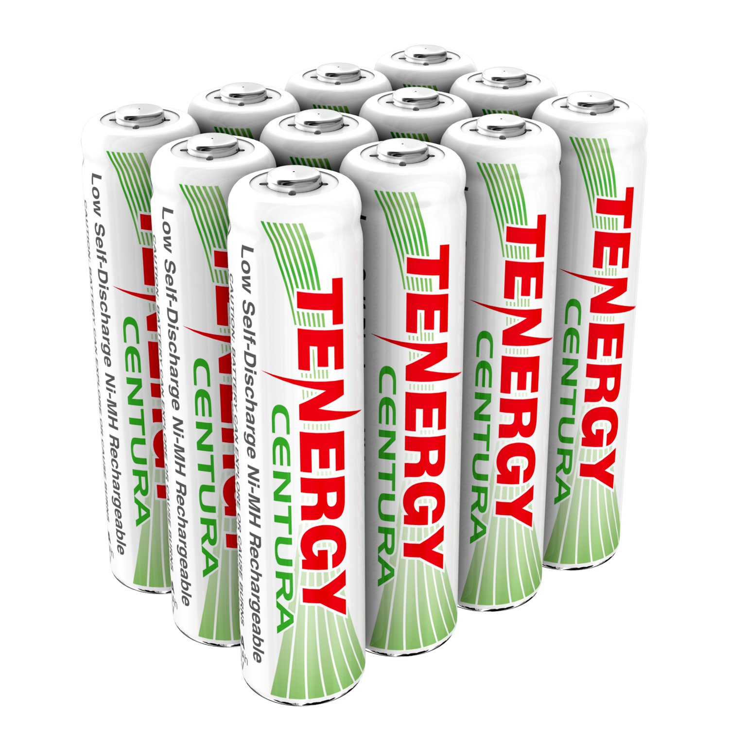 Tenergy Centura AAA NIMH Rechargeable Battery 800mAh Low Self Discharge Triple A Battery Pre-Charged AAA Size Batteries Pack for Solar Lights/Remote Control/Toys/Flashlight/Mice (12 PCS)