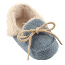 Luvable Friends Unisex Baby Moccasin Shoes, Blue, 12-18 Months