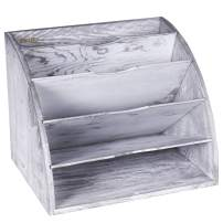 Tektalk File Rack File Holder Easy to Take Out Desktop File Folder Document Storage Box File Dividers for School/Office/Home