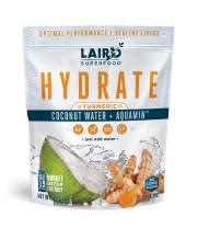 Laird Superfood Hydrate Coconut Water Turmeric - Electrolyte Powder Hydration Drink Mix, 8oz Bag