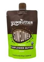 Organic Sunflower Butter by Yumbutter, Creamy Seed Butter, USDA Organic, Gluten Free, Vegan, Non GMO, 6.2oz Pouch