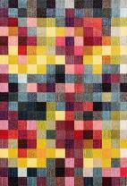 328 Checkered Multi Colored 2 x 3 Area Rug Carpet