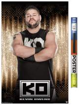 "Trends International Poster Clip WWE - Kevin Owens 15, 22.375"" x 34"", Premium Poster & Clip Bundle"